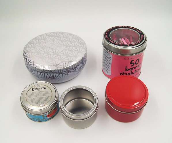 cosmetic box small tins  - Round Metal Candle Containers For Candle Packaging Ideas