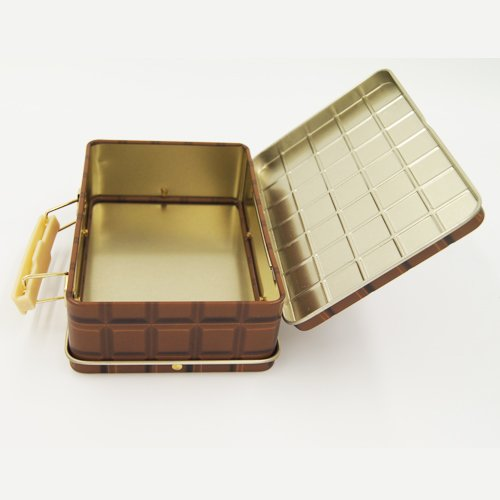 cosmetic box with handle small - Rectangular Mini Lunch Box Tin With Handle For Food Packaging