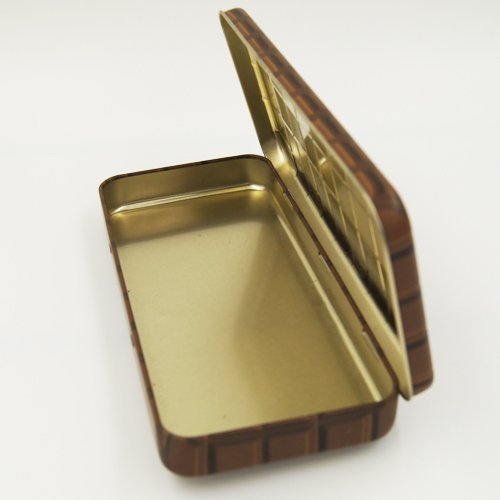 cute pencil cases - Custom Rectangular Metal Tin Pencil Box With Emboss Lid