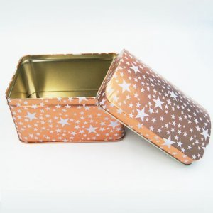 gift tin box with stars printing 300x300 - Small Cheap Metal Storage Boxes With Lid For Gifts Packaging