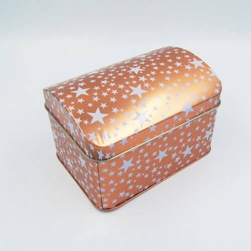 gift tin box with stars printing2 - Small Cheap Metal Storage Boxes With Lid For Gifts Packaging