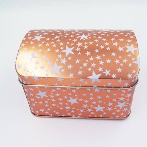 gift tin box with stars printing3 - Small Cheap Metal Storage Boxes With Lid For Gifts Packaging