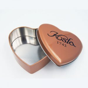 heart shape chocolate tin box 11 300x300 - Metal Heart Shaped Tin Can For Valentine Chocolate Packaging