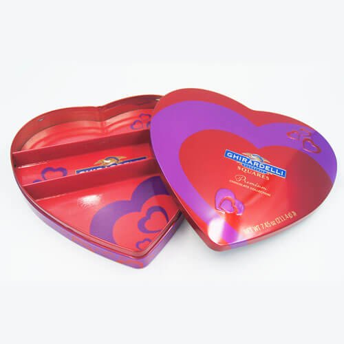 heart shape chocolate tin box 16 - Food Packaging Tins