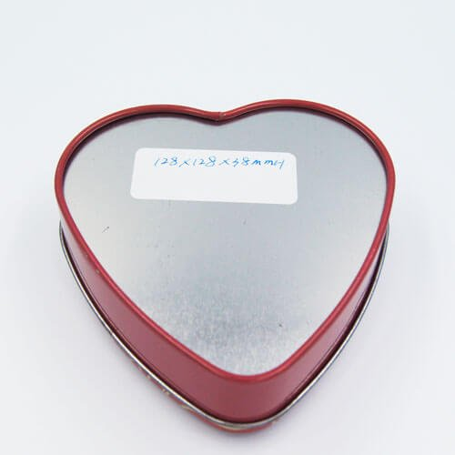 heart shape chocolate tin box 7 - Custom Small Heart Shaped Tins With Lid For Candy Packaging