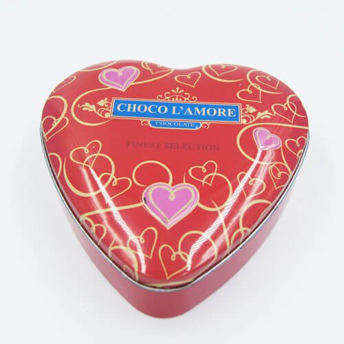 heart shape chocolate tin box 9 - Custom Small Heart Shaped Tins With Lid For Candy Packaging