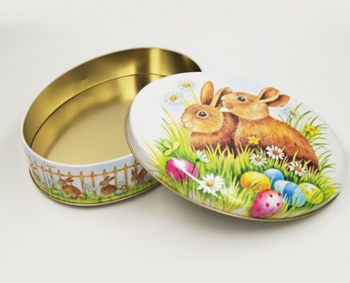 Oval Metal Tin Food Containers For Cookies Packaging Ideas