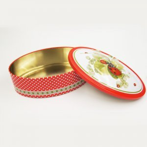 oval tin box3 300x300 - Small Round Candy in Tin Containers For Biscuits Packaging