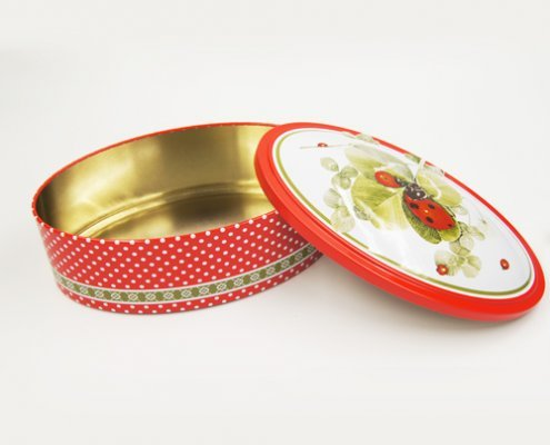 Small Round Candy in Tin Containers For Biscuits Packaging
