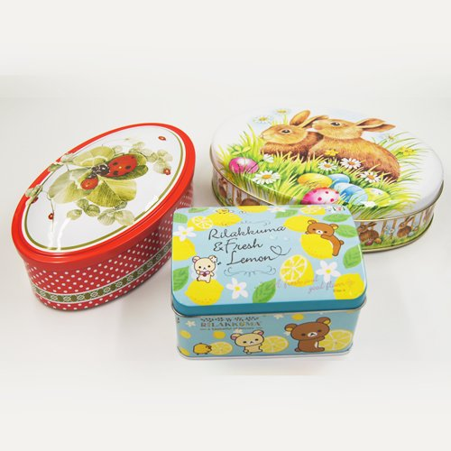 oval tin boxes - Small Round Candy in Tin Containers For Biscuits Packaging
