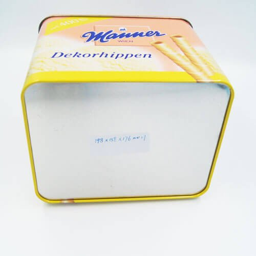 rectangle cookies tin boxes - Custom Rectangular Metal Cookie Tin With Lids For Biscuits