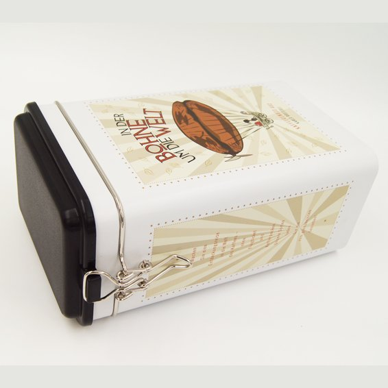 rectangle tea and coffee tin box1 - Rectangular Metal Tea Box With Lid And Lock For Tea Packaging