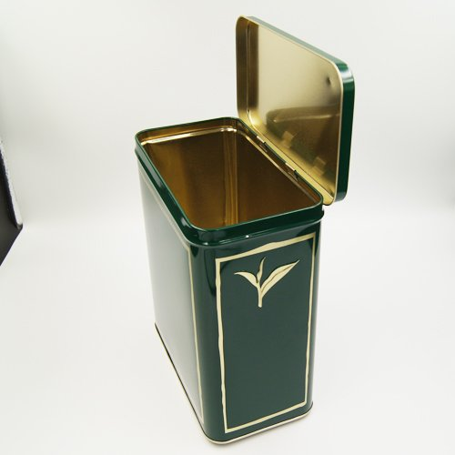 rectangle tea tin box - Custom Metal Loose Leaf Tea Containers For Tea Packaging