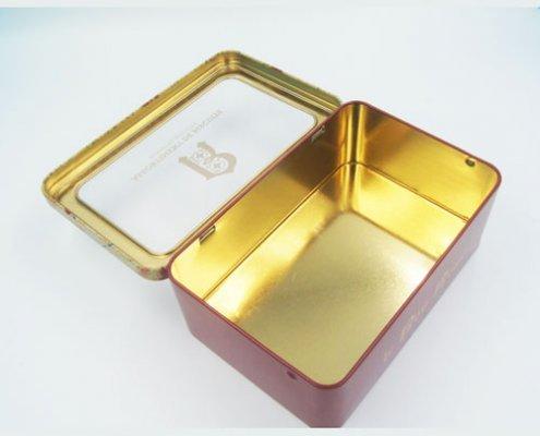 rectangle tin box with window2 495x400 - Rectangle Tin Box With Window