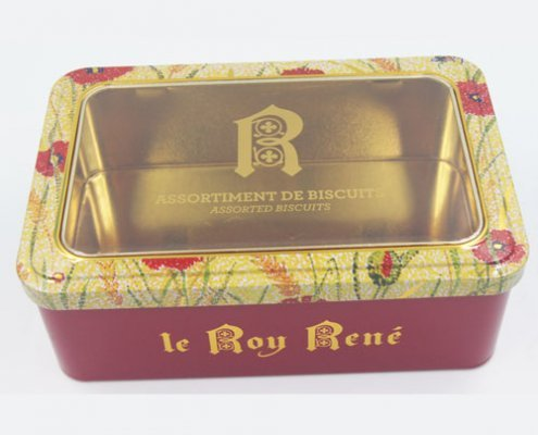 rectangle tin box with window4 495x400 - Rectangular Metal Tins With Clear Lids For Cosmetic Storage