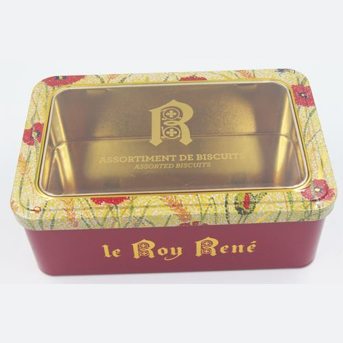 rectangle tin box with window4 - Rectangular Tin Box