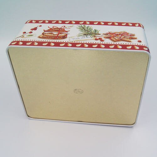 rectangle tin cookies box - Large Custom Cookie Tins With Lids For Biscuits Packaging