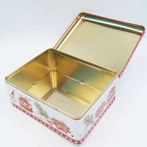 rectangle tin cookies box3 - Large Custom Cookie Tins With Lids For Biscuits Packaging