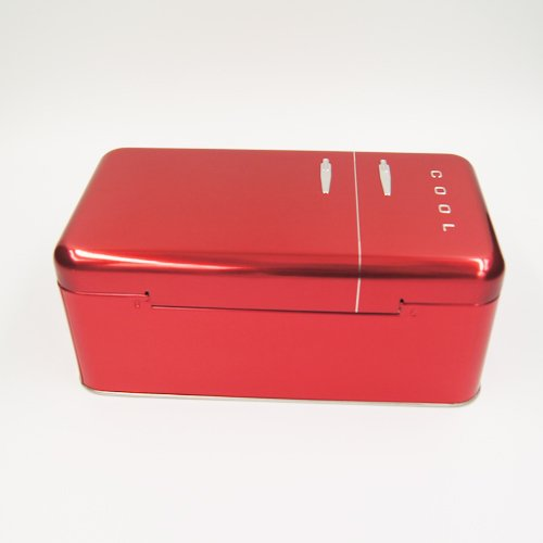 red cool tin box - Custom Metal Food Containers With Lids For Food Packaging