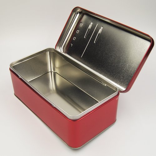 red cool tin box2 - Custom Metal Food Containers With Lids For Food Packaging