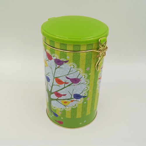 round tea and coffee tin box1 - Round Tin Food Storage Containers With Plastic Lid and Lock