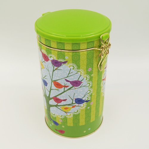round tea and coffee tin box2 - Round Tin Food Storage Containers With Plastic Lid and Lock