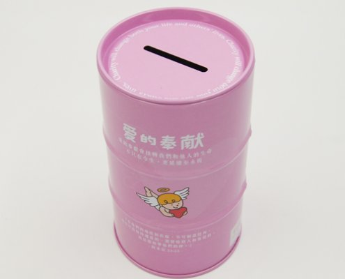Custom Round Metal Tin Can Money Box for Coin Storage