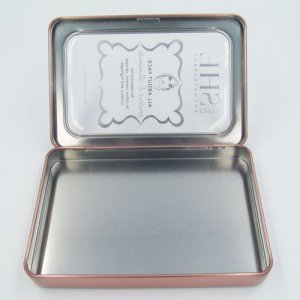 small rectangle tin box window 300x300 - Custom Metal Small Tins With Clear Lids For Cosmetic Storage