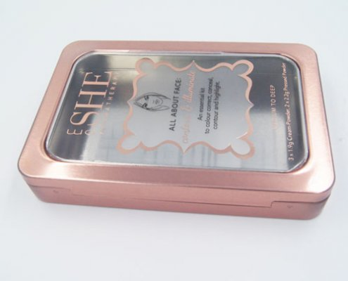 small rectangle tin box window1 495x400 - Custom Metal Small Tins With Clear Lids For Cosmetic Storage