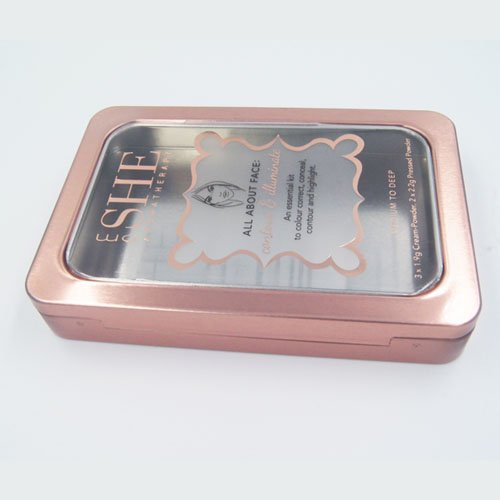 small rectangle tin box window1 - Rectangular Tin Box