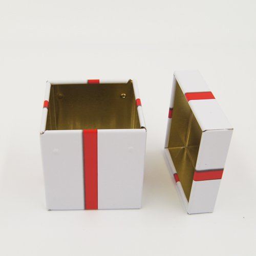 small square gift box 1 - Coins, Money Tin Can Boxes