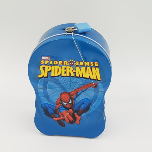 spider man handle box 3 - Coins, Money Tin Can Boxes