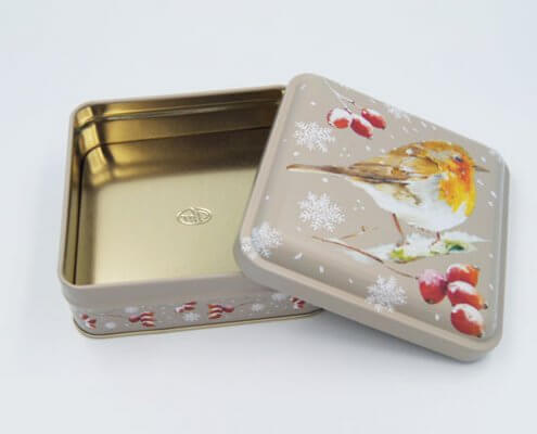 Small Square Aluminum Tin Containers For Candies Or Biscuits