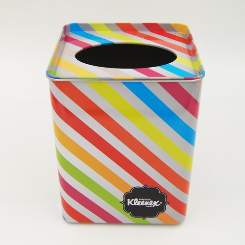 square tissue tin box - Metal Tin Containers With Clear Lids and Hole for packaging