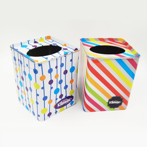 square tissue tin box1 - Metal Tin Containers With Clear Lids and Hole for packaging