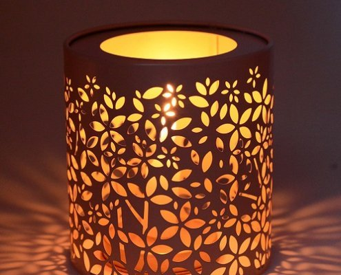 Custom Cutout Metal Round Tin Containers For Candles In