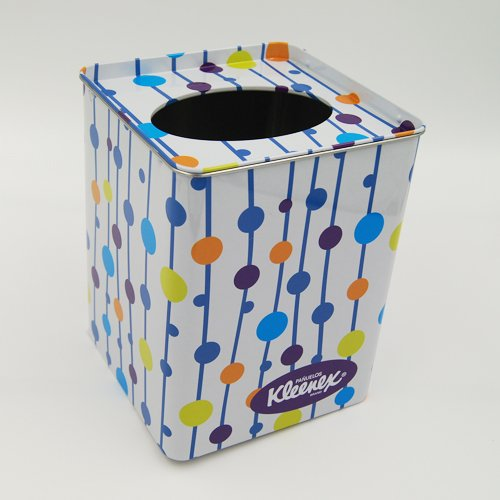 tissue tin box - Metal Tin Containers With Clear Lids and Hole for packaging