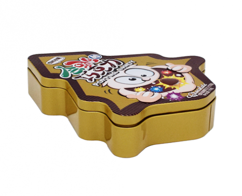 Custom Metal Christmas Tin Containers For Chocolate Packaging