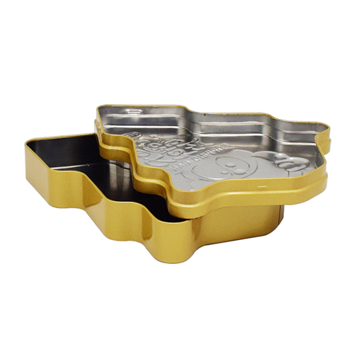 tw03 - Custom Metal Christmas Tin Containers For Chocolate Packaging