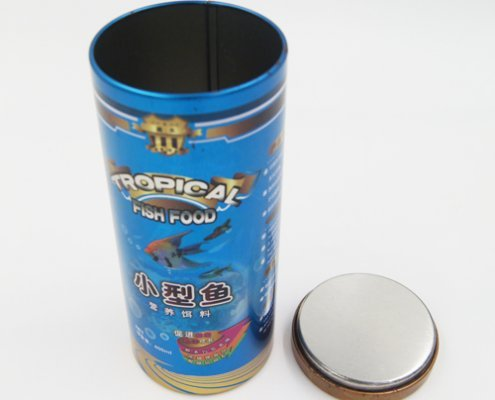 Custom Metal Round Tin Box With Lids for Biscuit Packaging