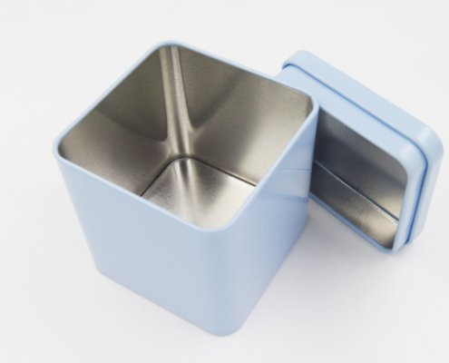 Custom Small Metal Square Candle Tins for Sugar Storage