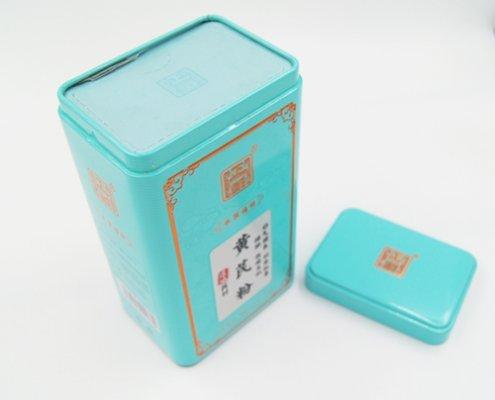 Rectangular Metal Tea Containers for Loose Tea Storage