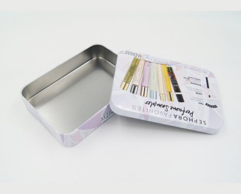 Custom Metal Cosmetic Tin Containers for Cosmetic Packaging