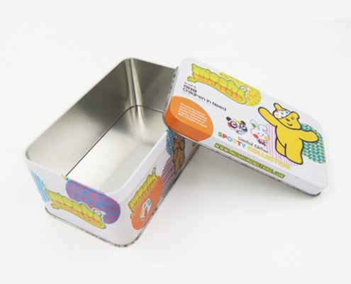 Custom Rectangular Small Metal Storage Box for Kids Products