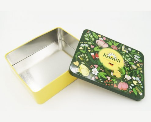 Rectangular Small Metal Storage Containers for Packaging