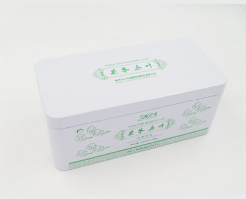 Custome Rectangular Metal Custom Empty Tea Tins for Packaging