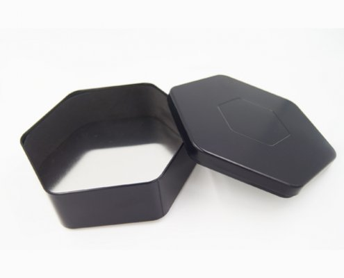Hexagonal Small Metal Containers for Chocolate Packaging
