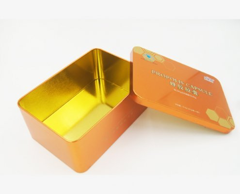 Custom Rectangular Food Metal Container for Food Packaging