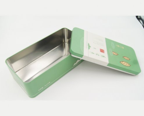 Rectangular Metal Tin Storage Containers for Coffee Packaging