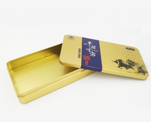 Rectangular Metal Tin Boxes for Cookies and Biscuits Packaging